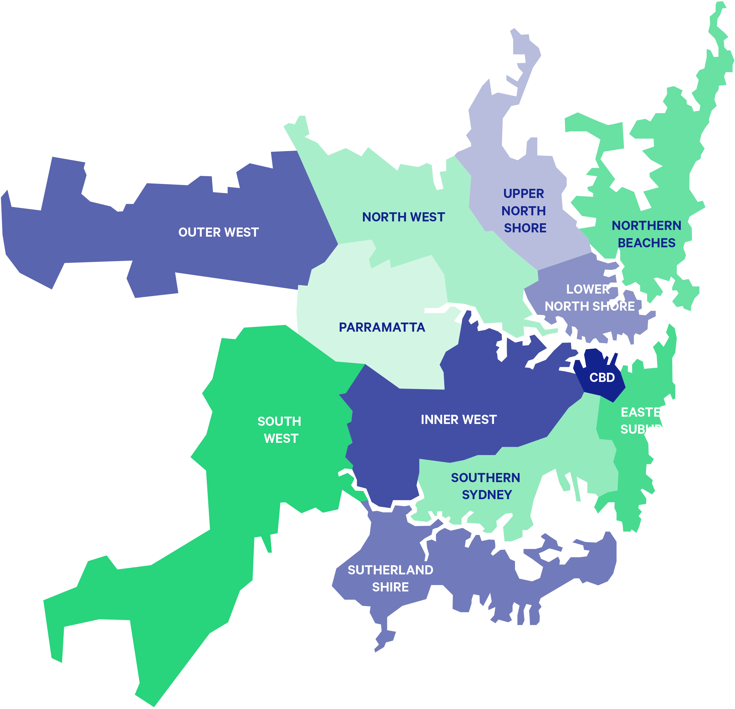 Sydney Suburbs Map Sydney Suburbs Map   Skip Hire Sydney