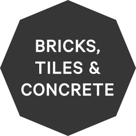 Bricks, concrete and tiles